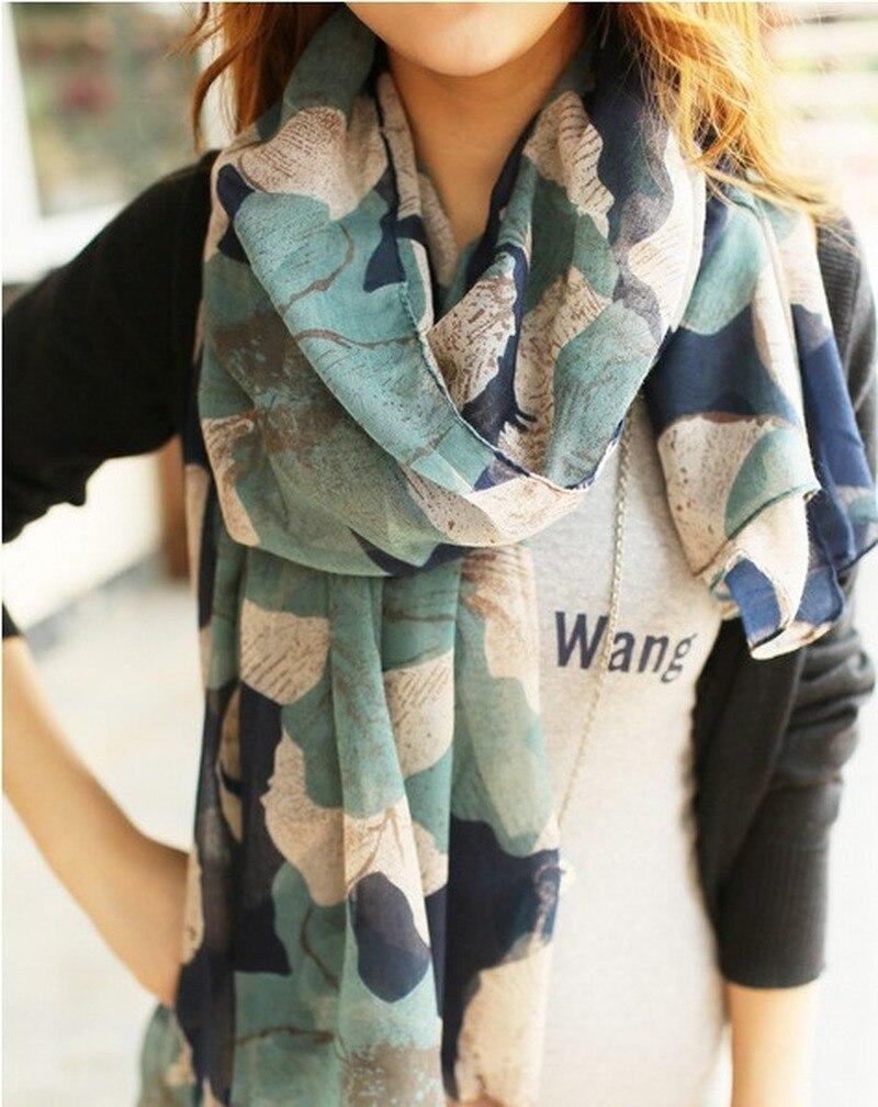 100*180cm Large Size Fashion Winter Scarves Hot Sale Flower Print Women Long Cotton Viscose Scarfs 2019 Scarfs For Ladies