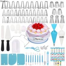 Набор инструментов для украшения торта, поворотные Кондитерские насадки для крема, кондитерские мешки, кондитерские мешки