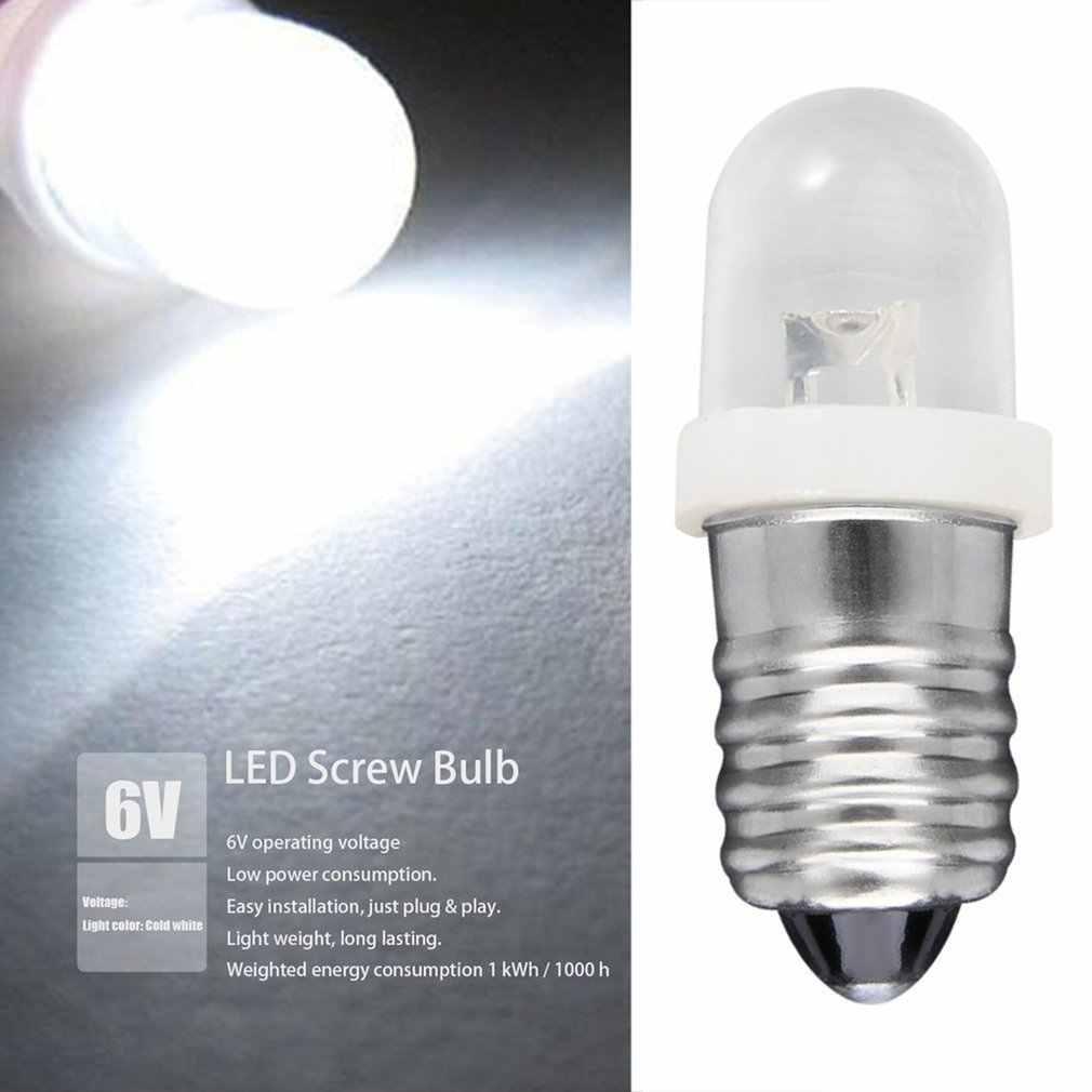 100% flambant neuf et de haute qualité faible consommation d'énergie E10 LED vis Base indicateur ampoule blanc froid 6V DC