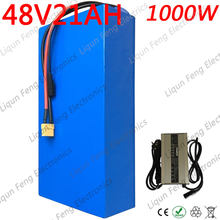 Free Tax High power 1800W 48V 20AH Electric Bike Battery 48V 20AH E-bike Battery 48 Volt Lithium Battery with 50A BMS 2A Charger(China)
