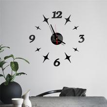3D ściany wzór zegara wielkie lustro zegary naklejki salon domu biura dekoracyjne dom zegar na ścianie J50 tanie tanio Kreatywny Wall Clock circular EVA+Electronic Components 40cm Pojedyncze twarzy 400mm QUARTZ Zegary ścienne Number Wyciszenie głośnika