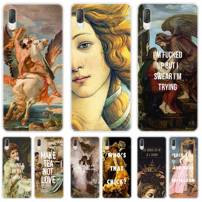 Art Paintings The Birth Of Venu Case For Sony Xperia L1 L2 L3 X XA XA1 XA2 Ultra E5 XZ XZ1 XZ2 Compact XZ3 M4 Aqua Z3 Z5 Premium