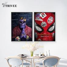 Фильм Marvel Печать на холсте Настенный декор Искусство Современная живопись плакат Человек-паук хип-хоп танос домашний декор для гостиной