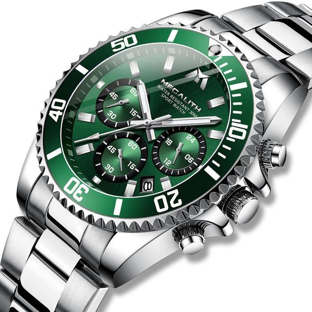 MEGALITH Reloj Hombre 2020 Fashion Casual Watch mężczyźni wodoodporny analogowy 24 godziny data zegarki kwarcowe sport Chronograph męski zegar