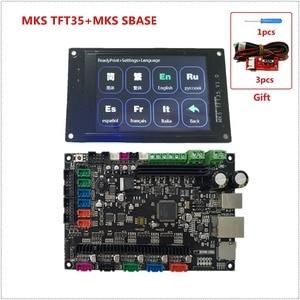 Image 2 - MKS SBASE + MKS TFT35 lcd + MKS TFT WIFI + runout filament sensor Smoothieboard 3D printer motherboard + touching LCD display