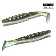 10 Uds. De Señuelos de Pesca blandos, 7cm, 3,4g, señuelo para Pesca de carpa, mar, para arrastre, anzuelos de gusano