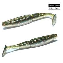 10 pièces leurres de pêche Leurre Souple 7cm 3.4g Pesca Leurre Souple pêche à la carpe pêche en mer pour la pêche à la traîne