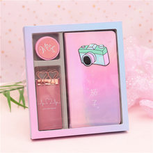 Creative New Style GIRL'S Heart Wei Wu Symphony Laser Hand Account Book Gift Box Notebook Dovetail Clip PDA Adhesive Tape(China)