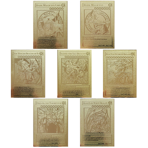 YU GI OH Anime Peripheral Game Fight Card Gold Metal Card Action Figure Collection Card Kids Toy Gift
