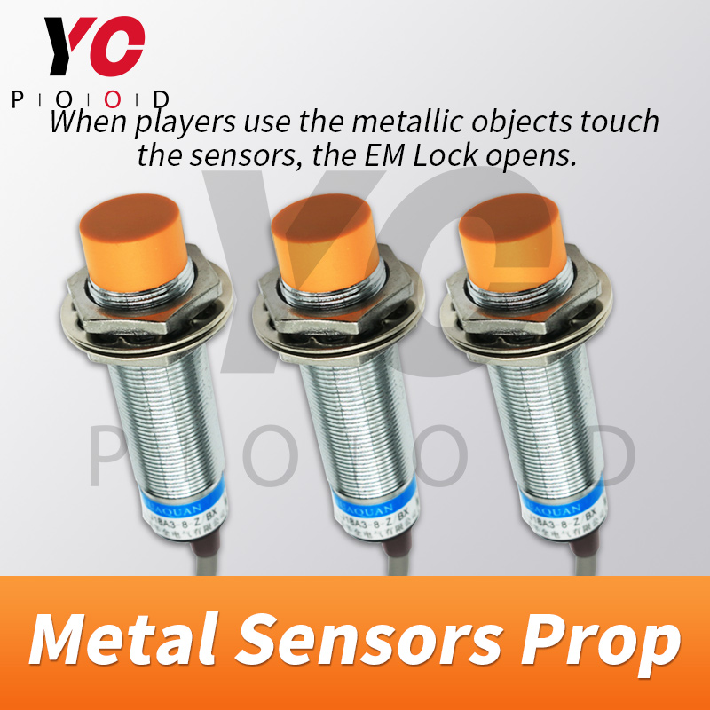 Metal Sensor Escape Room Props Same Time Version Use metal object to touch metal sensors at the same time to unlock