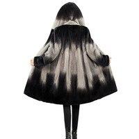 Women 2020 Winter Real Mink Fur Coat Natural Fur Mink Coats Jackets Female Plus Size Warm Clothes Hooded High quality Fur Q233