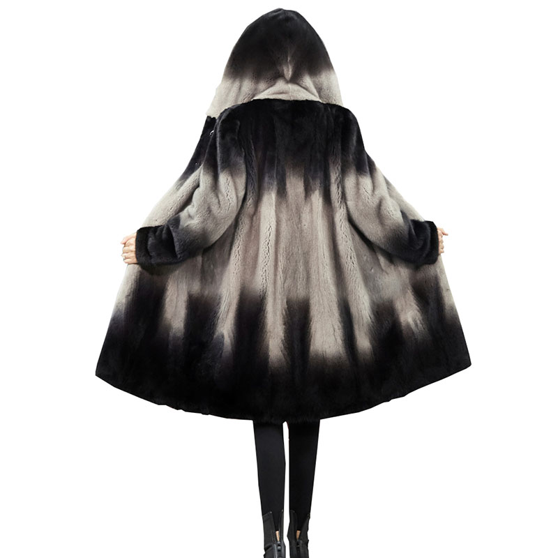 Women 2020 Winter Real Mink Fur Coat Natural Fur Mink Coats Jackets Female Plus Size Warm Clothes Hooded High Quality Fur Q233