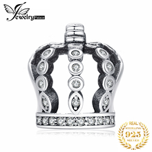 Jewelrypalace 925 Sterling Silver Hollow Out Crown Cubic Zirconia Beads Charms Fit Bracelets Gifts For Women Fashion Jewelry