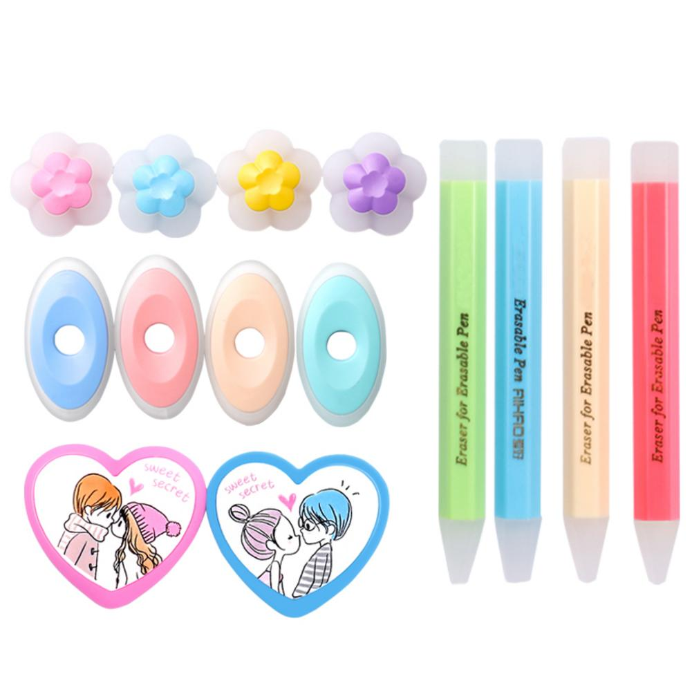 Friction Eraser For Erasable Pen Easy To Wipe Rubber Friction Eraser Creative Stationery Student School Supplies Charistmas Gift