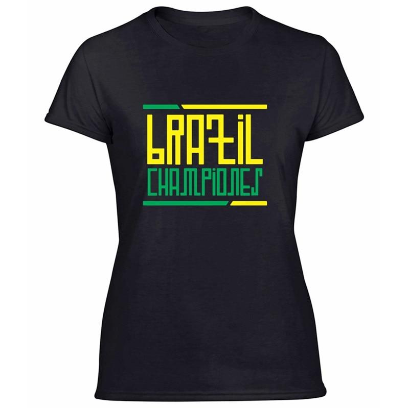 >Printed Designing Brazil <font><b>Championes</b></font> Tshirt For Womens 100% Cotton <font><b>Outfit</b></font> Comic Women's Tshirts Plus Size S-5xl Tee Tops