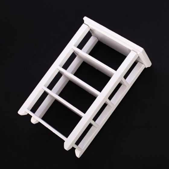1 pièces meubles salle de bain armoire toilette armoire & 1 pièces étagère 1:12 maison de poupée Miniature meubles en bois étude blanc