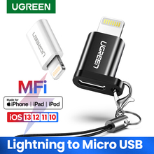Ugreen USB Adapter for iPhone 8 Lightning to Micro USB for iPhone 11 Pro XS 7 Adapter Fast Charging Data Sync for iPad USB Cable cheap US164 US278 For iPhone Adapter Lightning Adapter Micro USB to Lightning Adapter USB Adapter for iPhone X 8 7 7 Plus 7 6 6S 6S Plus 6P 5 5S