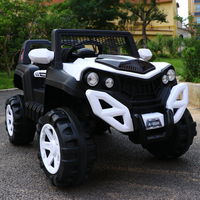 Children four wheel drive electric SUV car kids remote control shock absorption vehicle ride on baby toy car soft tires