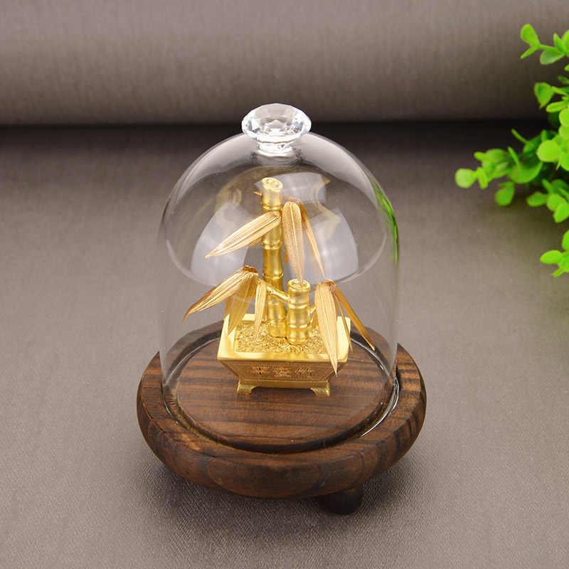 Feng Shui Fortune Pohon Emas Foil Pohon Uang Bonsai Kantor Tabletop Beruntung Kekayaan Ornamen Hadiah Dekorasi Rumah dengan Kotak Hadiah