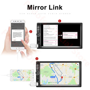 Image 3 - Podofo Android 2 Din Car Radio RAM 2GB+ ROM 32GB Android 7 2Din Car Radio Autoradio GPS Multimedia Player For Ford VW Golf