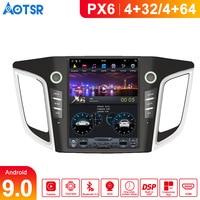 Android 9.0 4+64G PX6 Tesla Car GPS Navigation For HYUNDAI IX25/HYUNDAI CRETA Radio Tape Recorder HeadUnit Multimedia Player IPS