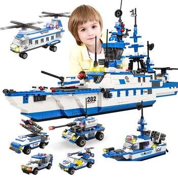 1230 pcs Warship Carriers Building Blocks Headquarters Technic Changeable Model Aircraft Construction Bricks Toys For Children wenhsin assembling model warship 1 700 u s a warship navy new york battleship bb34 warship 06711