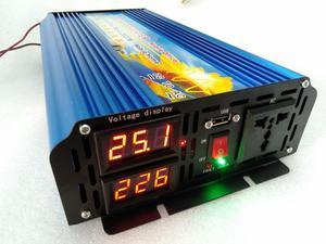 Image 2 - Novo modelo Inversor Energia 2500W 12V/24V/36V/48V için 110V/120V/220V/230V 50hz/60hz Onda Pura ekran de dupla voltagem com USB