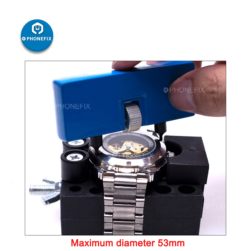 PHONEFIX Watch Back Cover Case Opening Tool Watch Screw-In Back Cover Opener Watch Opener Case Battery Replacement Repair Tools