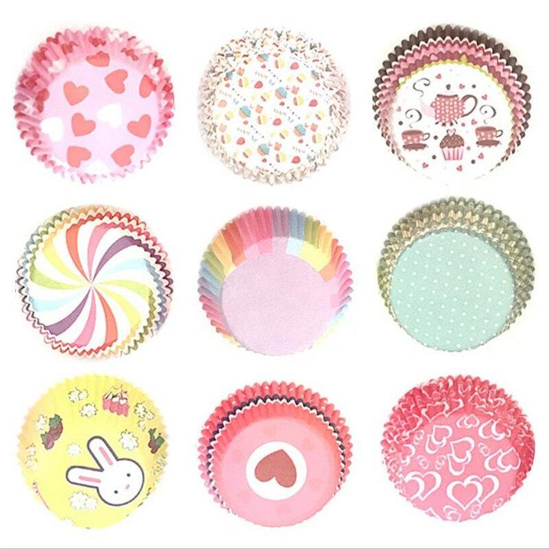 100 sztuk Rainbow papierowa foremka do babeczek foremki na muffinki babeczka Topper blacha do pieczenia akcesoria kuchenne dekoracja ciasta narzędzia