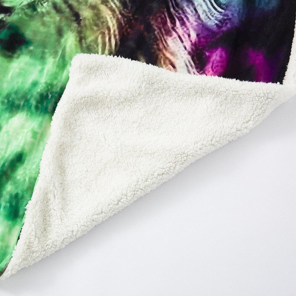 Рождественское Фланелевое теплое многоразовое мягкое многофункциональное декоративное одеяло, легко чистится, быстросохнущее, с принтом, ... - 5