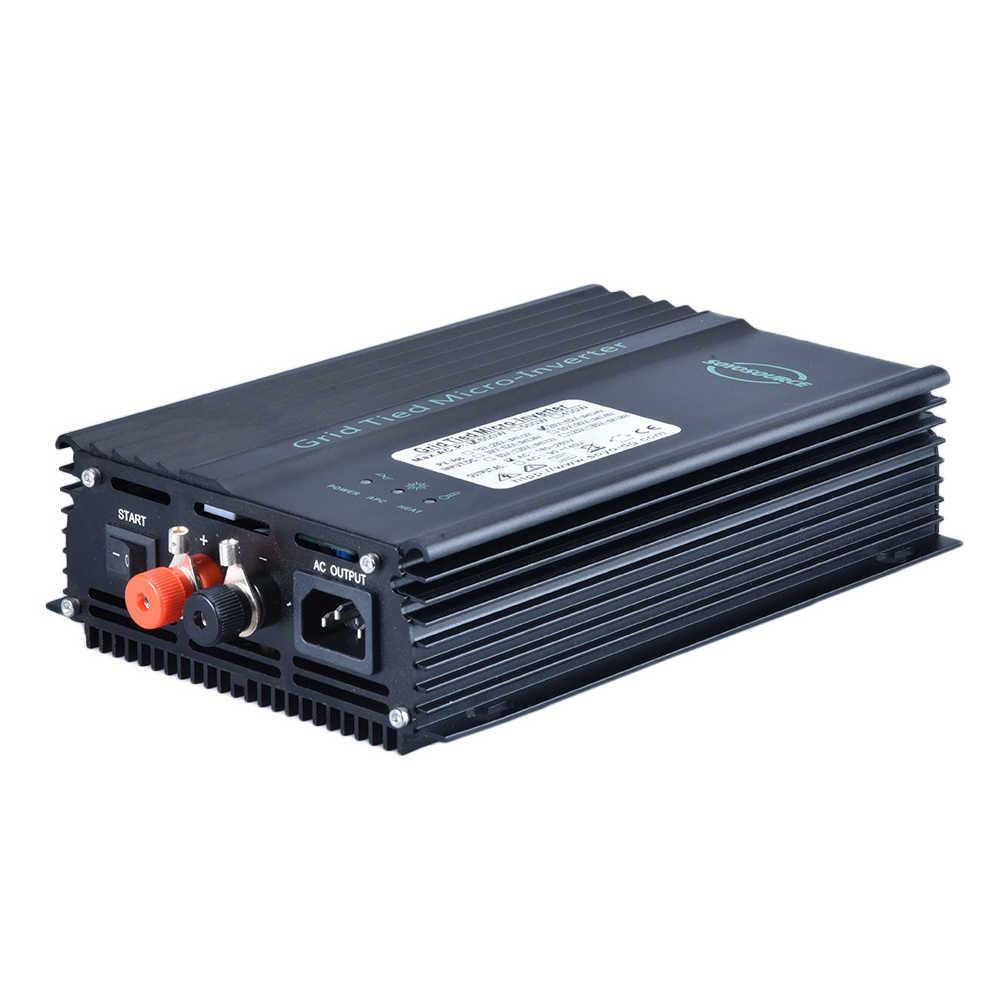 Micro inversor grid tie 600w, inversor para painéis solares pv mppt onda senoidal pura 24v 36v 48v inversor de rede de descarga de bateria, 60v 72v 96v