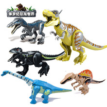 In Stock Heavy Claw Dragon Jurassic World Dinosaurs Figures Bricks Tyrannosaurus Assemble Building Blocks legoinglysToy Dinosuar