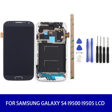 For Samsung Galaxy S4 I9500 Lcd Display Screen Touch Digitizer With Frame Assembly Replacement 1280*720 High Quality цена