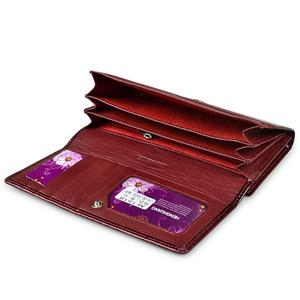 Image 4 - HH ワニ口レディース財布高級パテントワニ本革財布ハスプロングコイン多機能財布