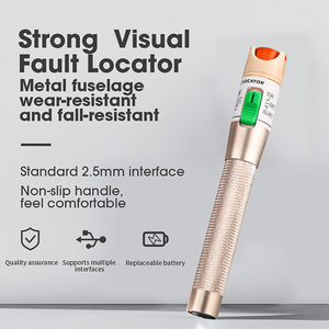 Image 2 - COMPTYCO high quality 30km/20km/10km/5km Red light source fiber tester pen visual fault locator compliant st fc sc Connector