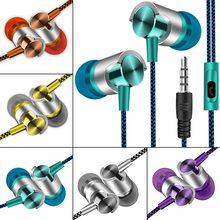 In-ear Bass Stereo Mobile Wired Headphones 3.5mm Sport Earbuds For Smartphones Wire Headset With Built-in Microphone Earphones