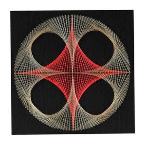 3D пряжа для рисования Pin String Art DIY Набор для дизайна ногтей набор геометрических намоток линий для рисования Художественный набор с рамкой дл...