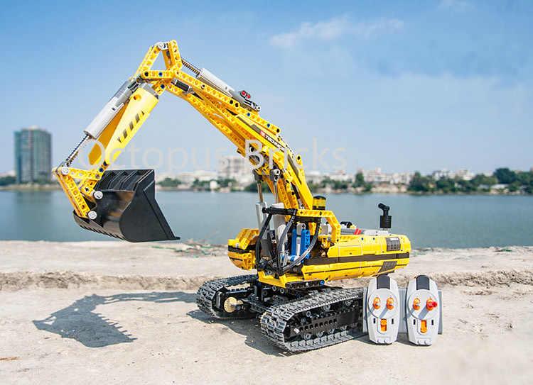 Compatible legoed 20007 8043 Technic motorisé pelle blocs de construction moteurs électriques fonctions électriques modèle briques