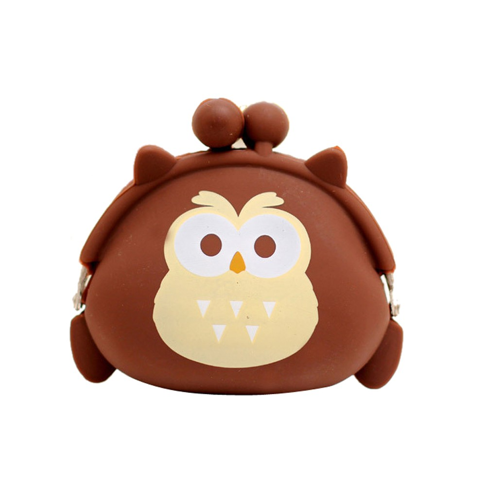 Sleeper #P501 2019 NEW FASHION Women Owl Silicone Jelly Wallet Change Bag Key Pouch Coin Purse Cute Design Gift Free Shipping