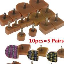 10pcs=5Pairs High Qualiy Brown High Heel Shoes DIY Repairs Tips Pin Dowels Lifts Replacement