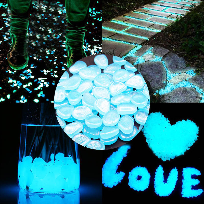 Glow in the Dark Garden Pebbles Glow Stones Rocks for Walkways Garden Path Patio Lawn Garden Yard Decor Luminous Stones 25/50pcs
