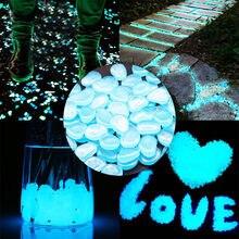 Brilho no jardim escuro seixos pedras brilho pedras para passarelas jardim caminho pátio gramado jardim quintal decoração pedras luminosas 25/50 pçs