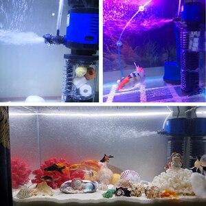 Image 5 - Filtro de aquário 220v sunsun, filtro de aquário interno 3 em 1, esponja submersível silencioso, bomba para tanque de peixes, fabricante de oxigênio bomba de água