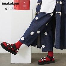 Женские синие джинсы imakokoni осень 2020 облегающие свободные