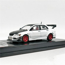 CM Model 1:64 Mitsubishi Lancer Evolution IX Voltex Putih dengan Hitam Carbon Hood Diecast Model Mobil(China)