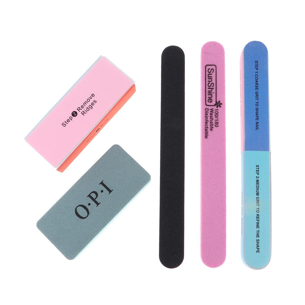 5Pcs Crafts Model Grinding Polishing Stick Sand Block Polish Tools Kit