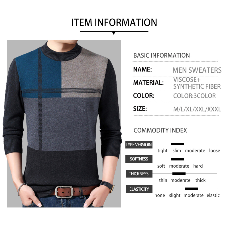 Pullover Men Knitwear Sweater Warm O-Neck Pull Homme Basic Sweater Men Autumn Winter Sweater Men's O-neck 2020 Fashion Casual