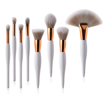 1/4/8 Pcs Makeup Brush Kit Soft Synthetic Hair Wood Handle Makeup Brushes Foundation Powder Blush Eyeshadow Cosmetic Makeup Tool