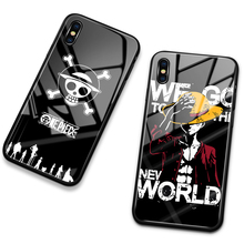 Cell Phone Case for iPhone 12 pro glass back cover case one Piece Luffy case for iPhone 6 6s 7 8 Plus X XS Max XR 11 pro max SE2