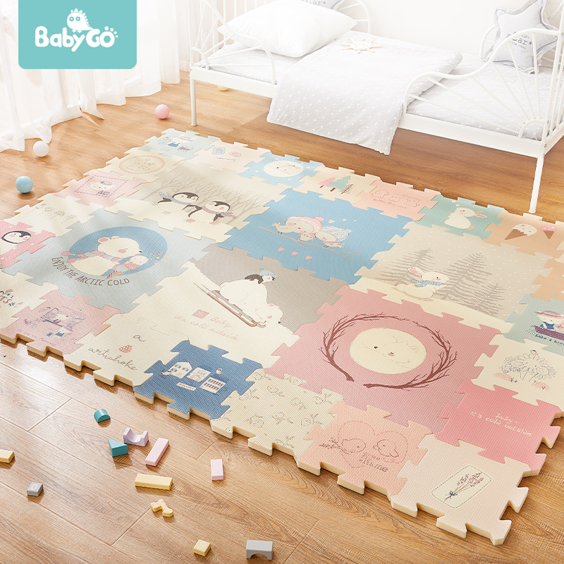 BabyGo 9pcs Baby Puzzle Play Mat XPE Foam Waterproof 82 82 2cm Thickened Children S Crawling BabyGo 9pcs Baby Puzzle Play Mat XPE Foam Waterproof 82*82*2cm Thickened Children'S Crawling Pad Living Room Activity Floor Mat